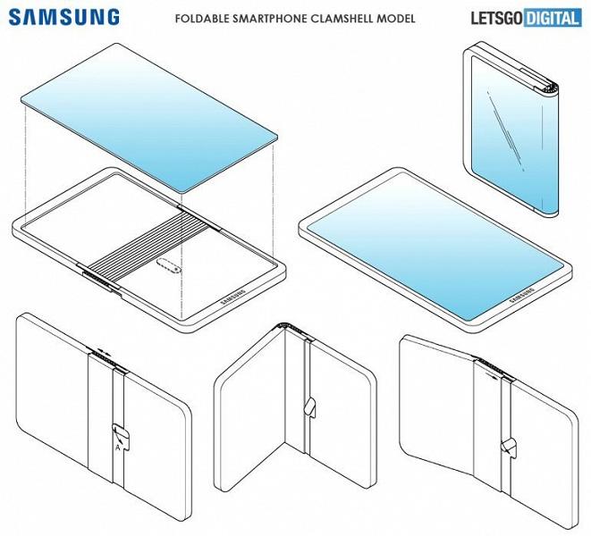 Складной смартфон экраном наружу. Как выглядит конкурент Huawei Mate X в исполнении Samsung