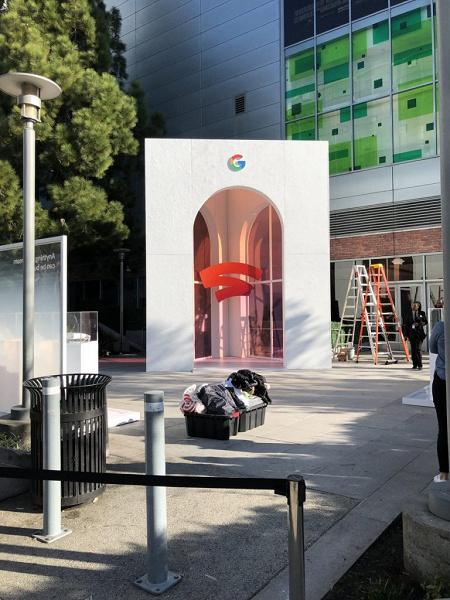 Логотип игрового подразделения Google замечен в Сан-Франциско перед завтрашним анонсом