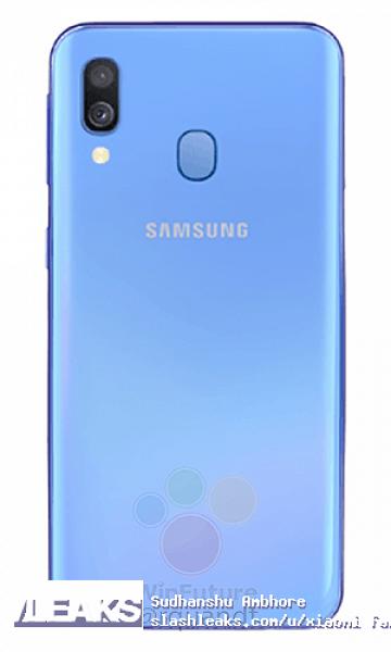 Samsung Galaxy A40 красуется на новых изображениях в различных цветах