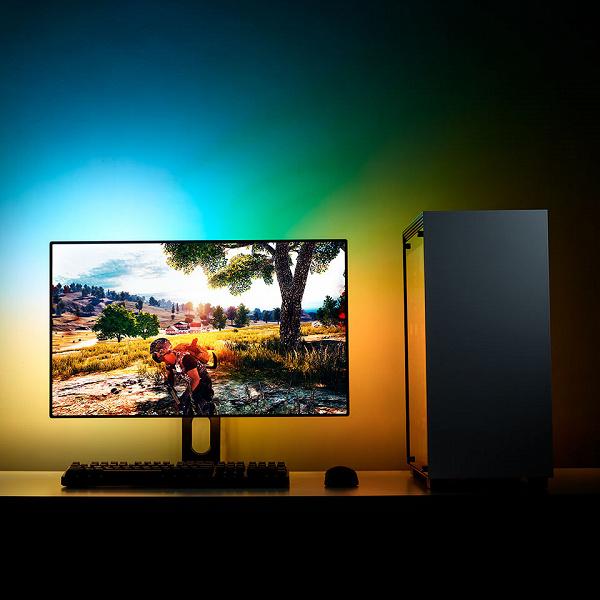 Набор NZXT HUE 2 Ambient Kit V2 позволяет украсить полноцветной программируемой подсветкой любой монитор