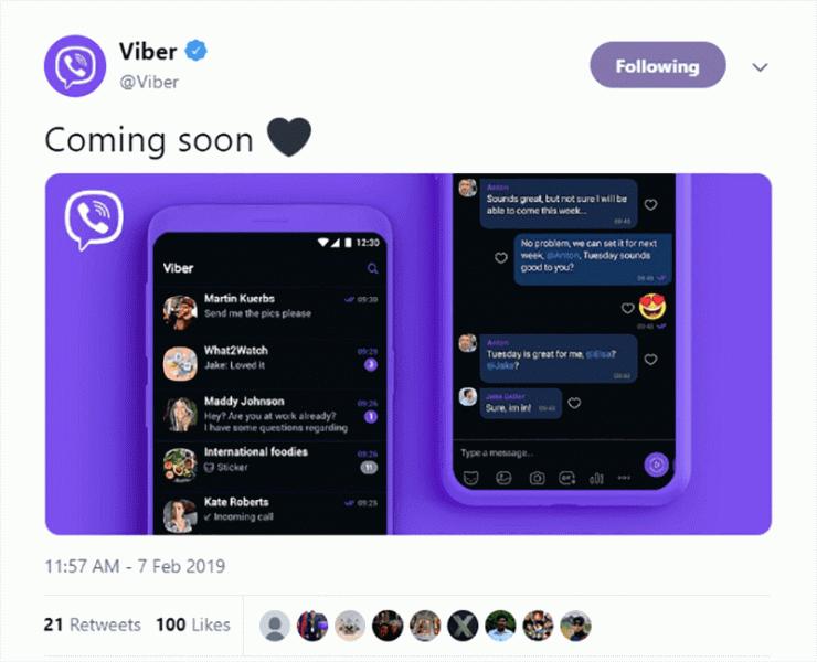 Мессенджер Viber получил тёмную тему и долгожданный нормально работающий поиск