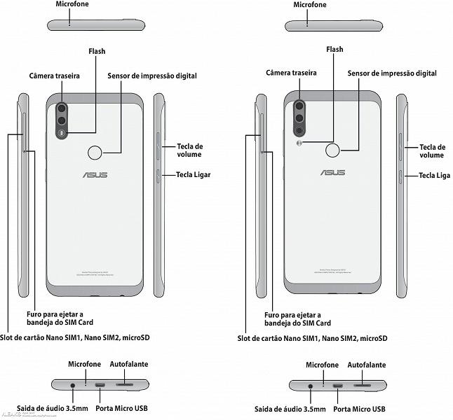 Двойная и тройная камеры: опубликованы изображения смартфонов Asus Zenfone Max Plus M2 и Zenfone Max Shot