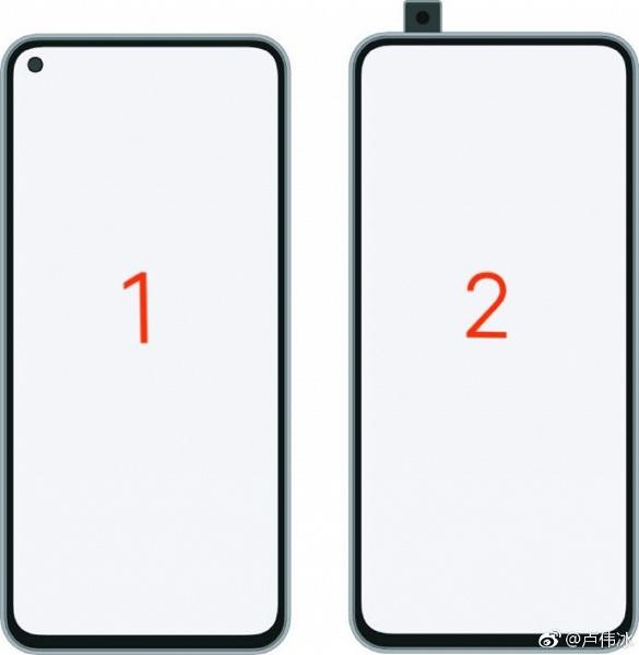 Глава Redmi показал два варианта дизайна флагмана на базе Snapdragon 855