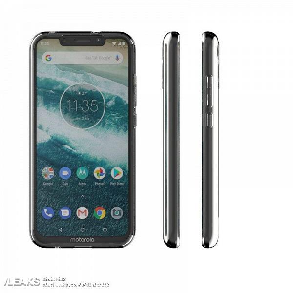 Челка напоминает об iPhone X, но дизайн камеры другой. Появились изображения Motorola P40 Play