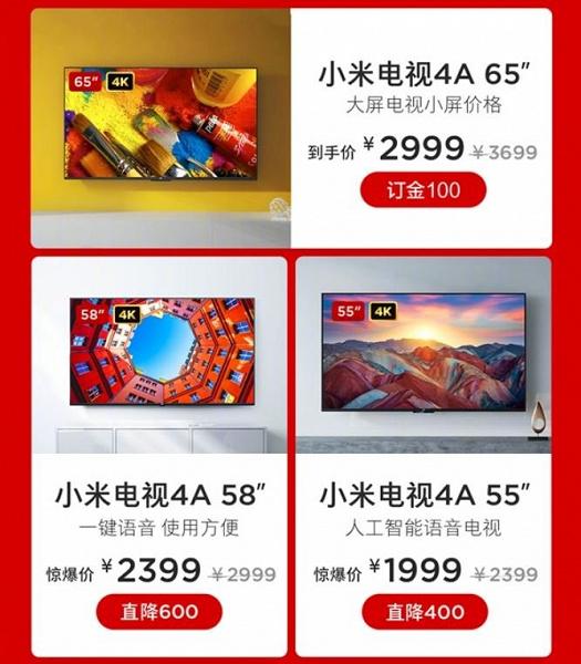 Фестиваль скидок в разгаре: Xiaomi продала 10 000 телевизоров за 2,5 минуты