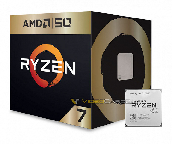 Фото дня: юбилейный процессор Ryzen 7 2700X