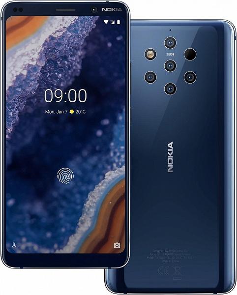 По 10 тысяч рублей за каждый модуль в пентакамере. В России начались продажи смартфона Nokia 9 PureView