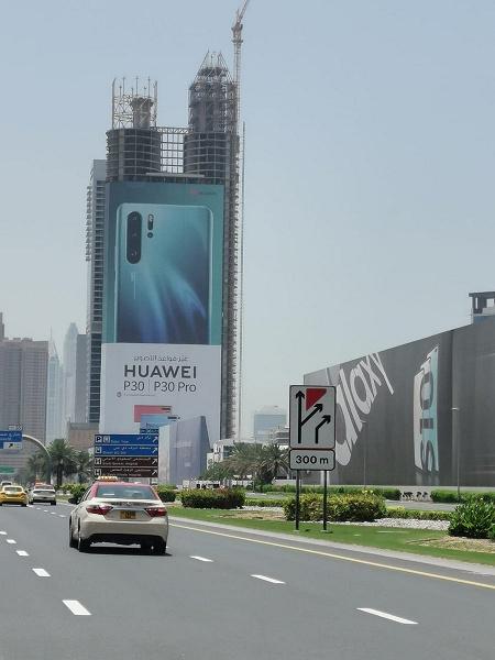 40-этажная реклама Huawei P30 Pro или что такое грамотный маркетинг