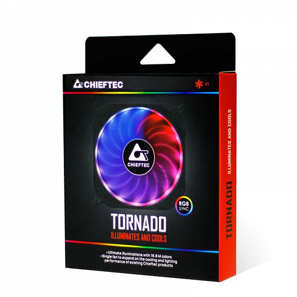 Компания Сhieftec сообщила о начале продаж в Европе вентиляторов Tornado CF-1225RGB