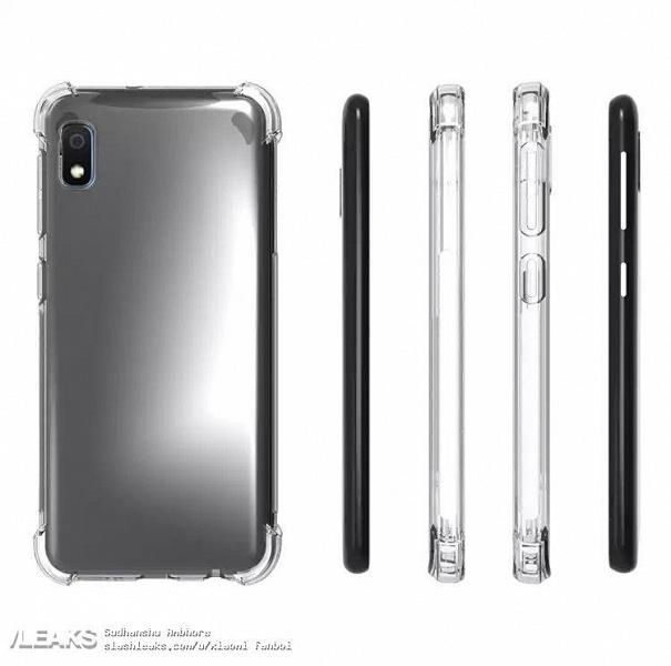 Первые изображения Samsung Galaxy A10e в защитном чехле