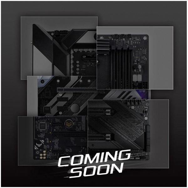 Опубликован коллаж из изображений системных плат Asus на чипсете AMD X570