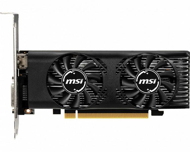 MSI выпускает низкопрофильную видеокарту GeForce GTX 1650