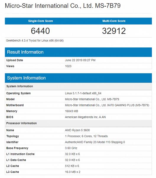 AMD Ryzen 5 3600 уступает по производительности Intel Core