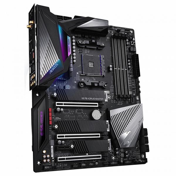 Системная плата Gigabyte X570 Aorus Master подойдет даже для самых мощных процессоров серии AMD Ryzen 3000