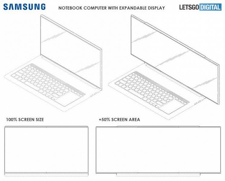 Samsung делает ноутбук, экран которого может увеличиваться на 50%