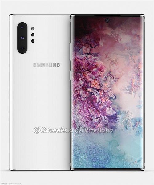 Опубликованы подробные характеристики флагмана Samsung Galaxy Note10+