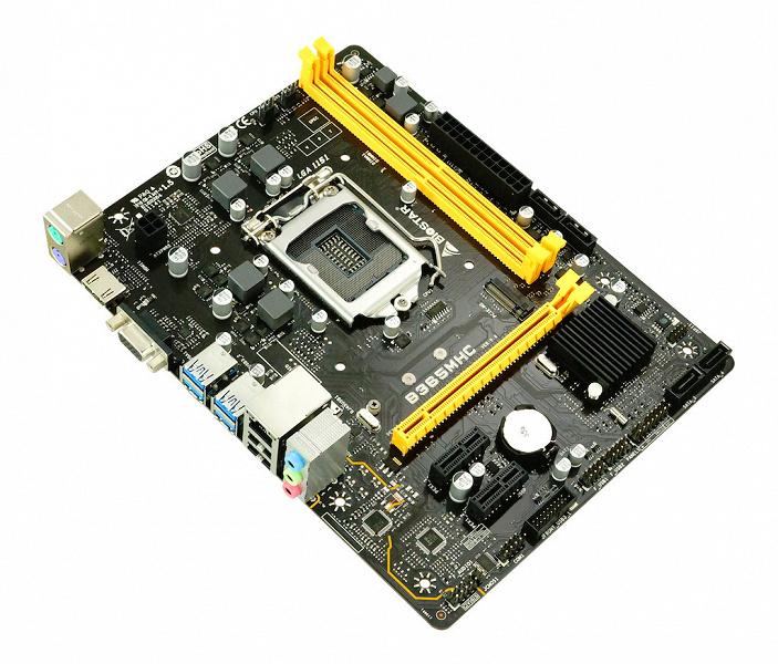 Системная плата Biostar B365MHC поддерживает процессоры Intel Core восьмого и девятого поколения