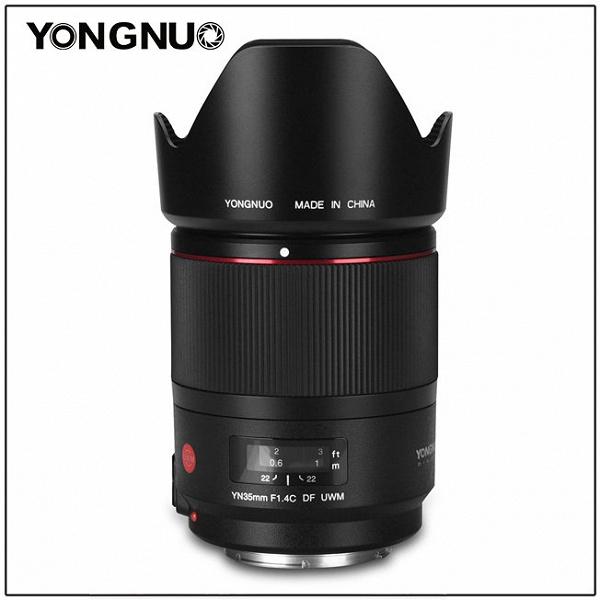 Полнокадровый объектив Yongnuo YN35mm F/1.4C DF UWM оснащен ультразвуковым приводом фокусировки