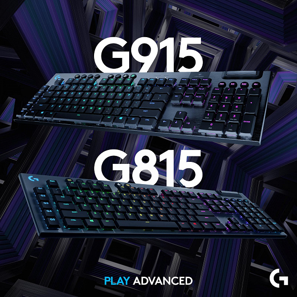 Представлены механические игровые клавиатуры Logitech G915 Lightspeed и G815 Lightsync RGB