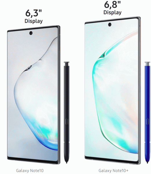 Смартфоны Samsung Galaxy Note10 и Note10+ представлены официально, цены стартуют с отметки в 950 евро