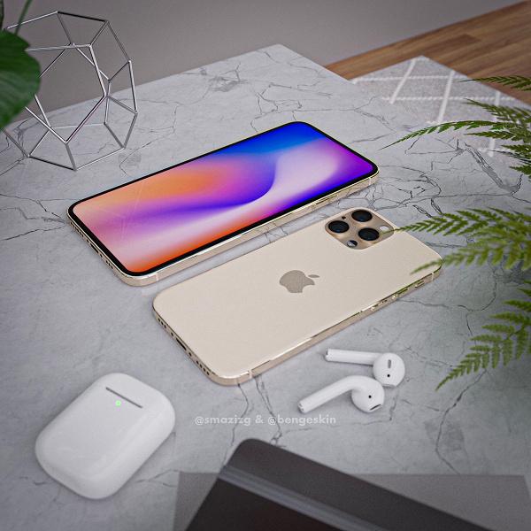 Первые изображения iPhone 12 в классическом цвете
