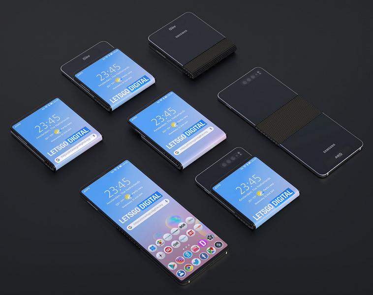 Смартфон Samsung W20 5G может складываться внутрь и наружу экраном