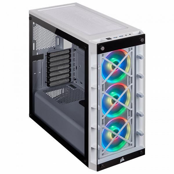 Компьютерный корпус Corsair iCUE 465X RGB предложен в двух цветовых вариантах