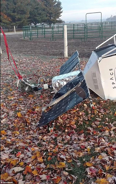 Космические селфи. Воздушный шар проекта Samsung SpaceSelfie приземлился на ферме в Мичигане