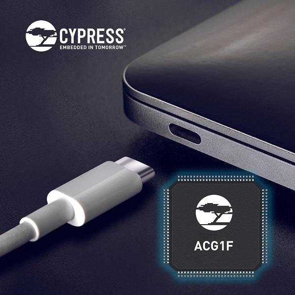 Контроллер Cypress ACG1F позволит производителям добавить порт USB-C в ноутбук или настольный ПК