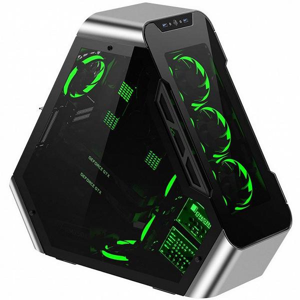 Компьютерный корпус Jonsbo TR03 имеет непривычную форму