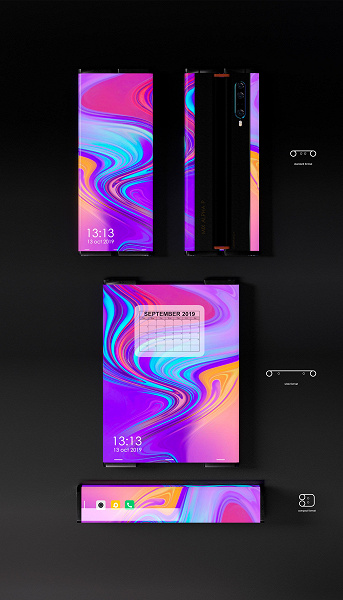 Как легендарный Nokia 7280, но с гибким экраном. Смартфон-свиток Xiaomi Mi Mix Alpha P показался во всей красе