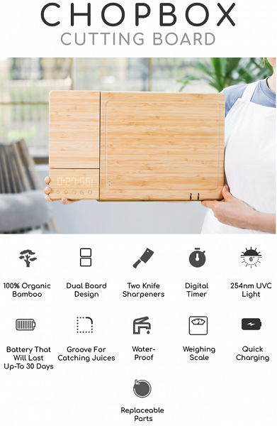 На выпуск «первой в мире умной разделочной доски» ChopBox собрано более 1,7 млн долларов