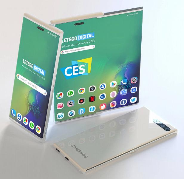 Samsung показала смартфон совершенно нового типа