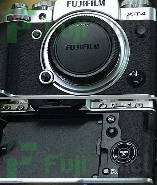 Появились первые изображения камеры Fujifilm X-T4