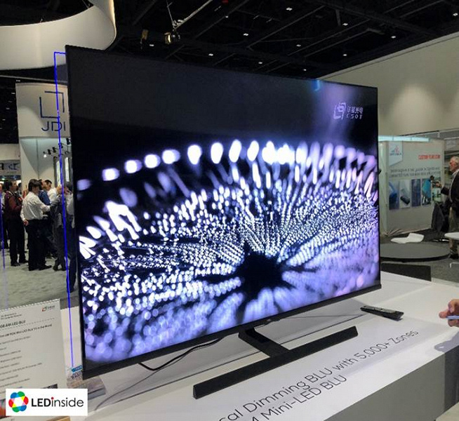 На широкое применение технологии mini-LED в дисплеях в 2021 году можно не рассчитывать