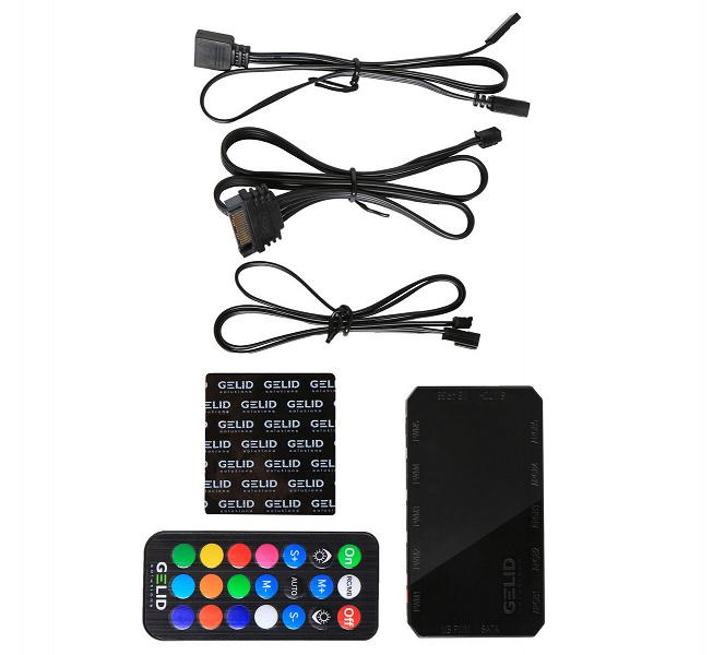Контроллер подсветки Gelid Amber5 комплектуется радиочастотным пультом ДУ