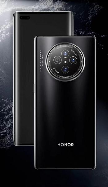 Huawei снова удивляет. Рендер Honor V40 с «часовой» матричной камерой во всей красе