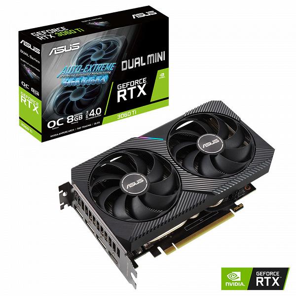 Наконец-то компактные GeForce RTX 3000. Asus представила множество моделей RTX 3060 Ti, включая версии Mini
