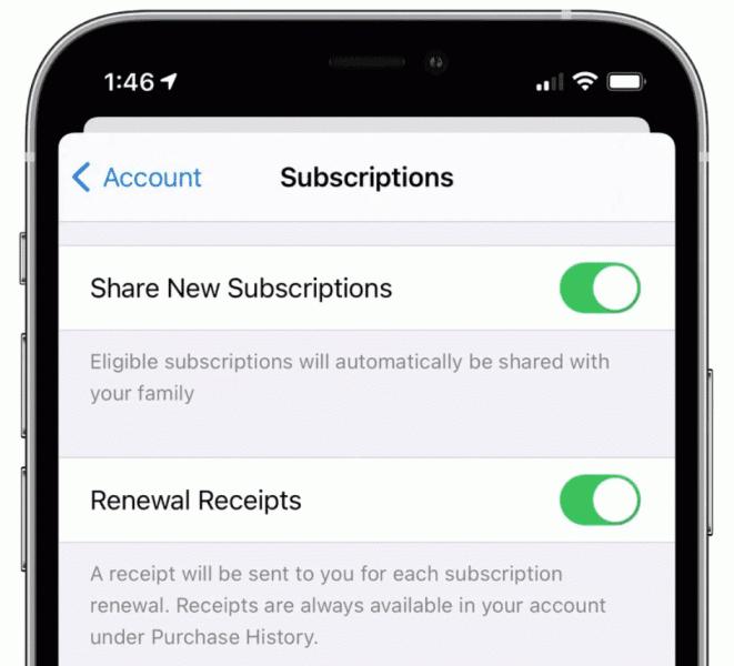 Apple добавила в «Семейный доступ» возможность делиться приложениями по подписке