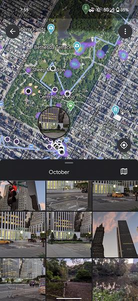 Google Фото покажут всё путешествие в «Хронологии» с привязкой к спутниковым снимкам