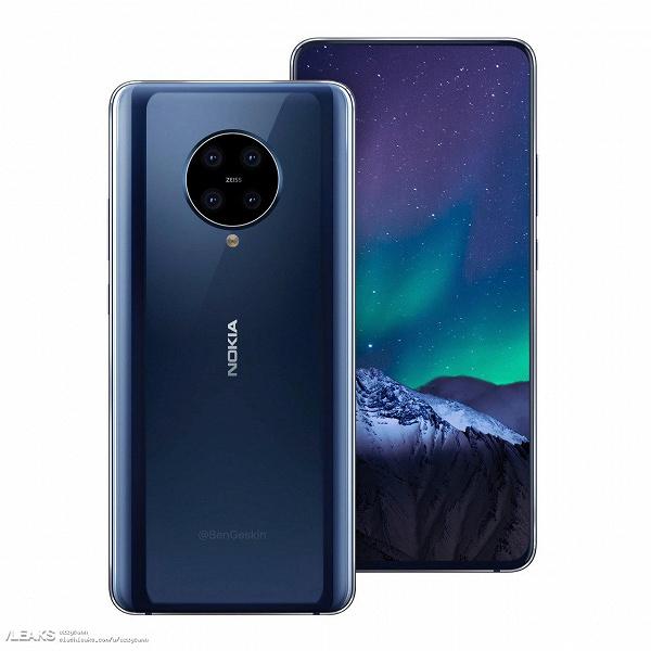 Флагман Nokia 9.2 Pureview с экраном без вырезов и квадрокамерой выглядит намного лучше предшественника
