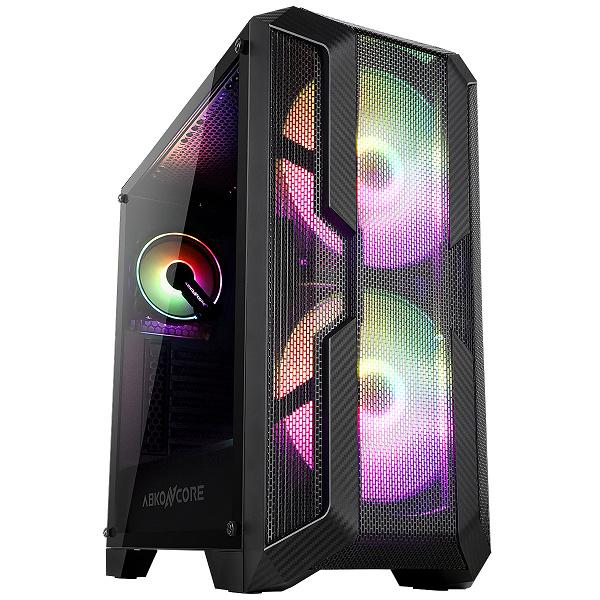 На передней стенке корпуса Abkoncore H600X Sync установлено два 200-миллиметровых вентилятора