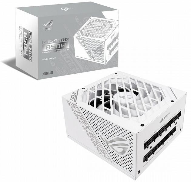 Блок питания Asus ROG Strix 850W White Edition построен по схеме с одной шиной +12В