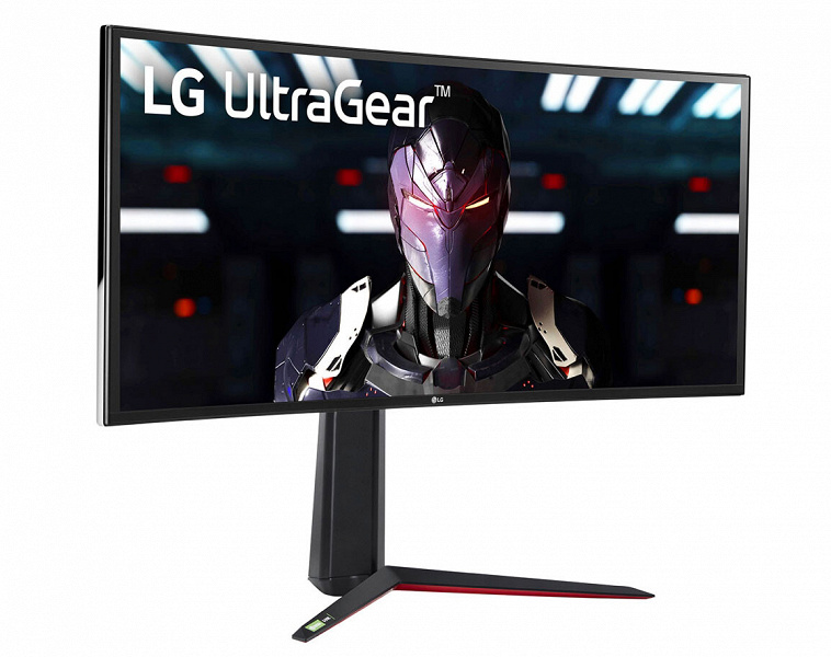 В мониторе LG UltraGear 34GN850-B используется изогнутая 34-дюймовая панель с соотношением сторон 21:9