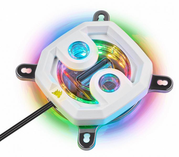 Новый вариант водоблока Corsair XC7 RGB приглянется тем, кто при сборке ПК отдает предпочтение белому цвету
