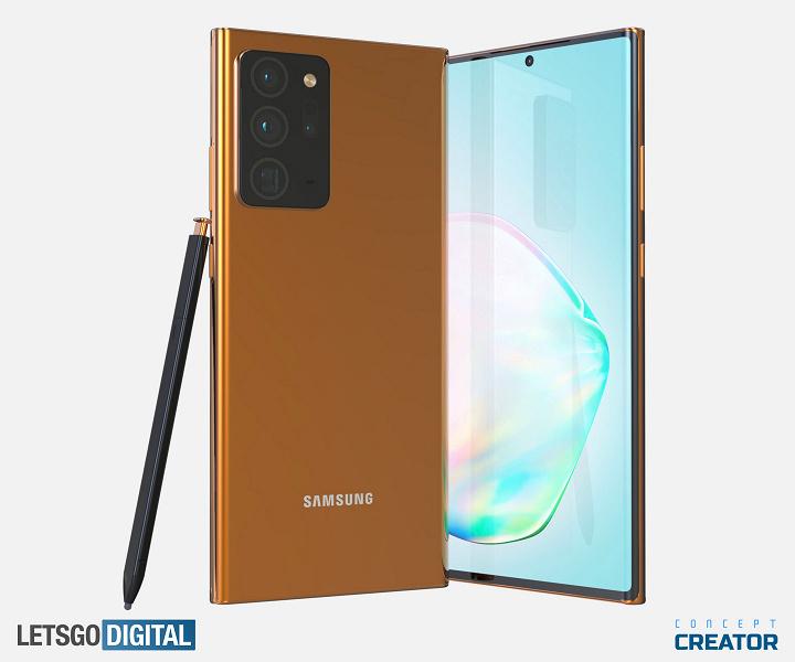 Samsung Galaxy Note 20 Ultra 5G на качественных рендерах и в видеоролике