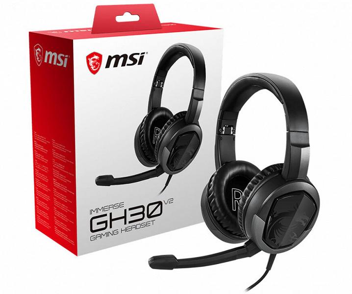 В игровой гарнитуре MSI Immerse GH30 V2 используются 40-миллиметровые излучатели