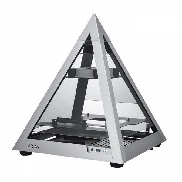 Компьютерный корпус Azza Pyramid Mini 806 имеет непривычную форму