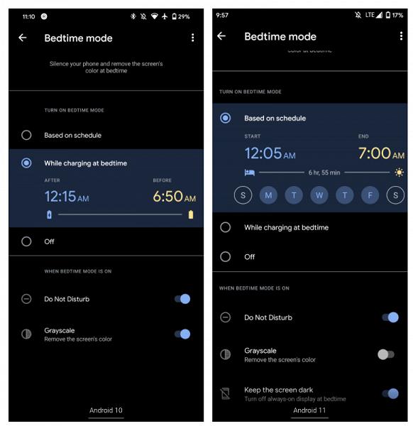 Ещё одна полезная фишка Android 11. Смартфоны смогут выключать «всегда включенный дисплей» на ночь