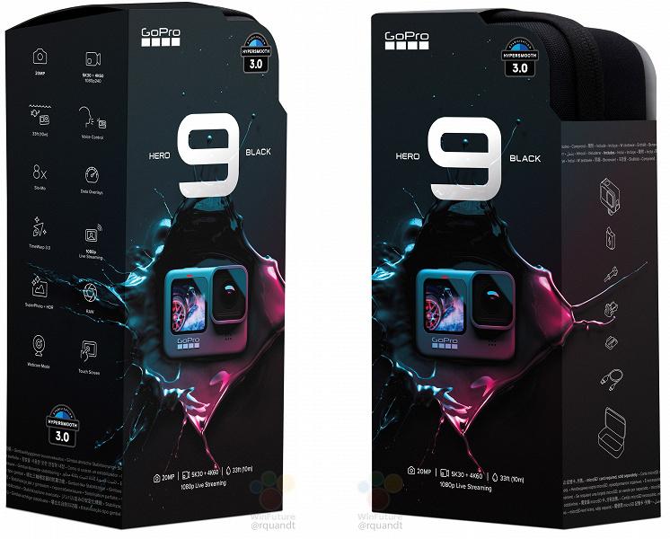 GoPro Hero 9 Black должна порадовать автономностью. Камера получит намного более крупный аккумулятор